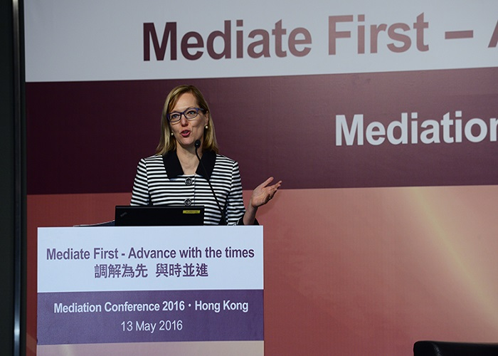 Najda Alexander at the Mediation conference in Hong Kong