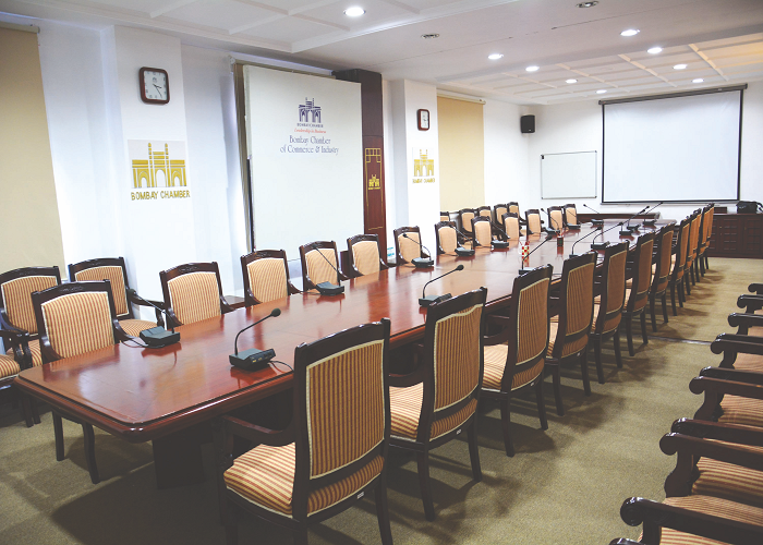Board room at Bombay Chamber's Ballard Estate office